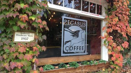 Pegasus Coffee House - Front Window