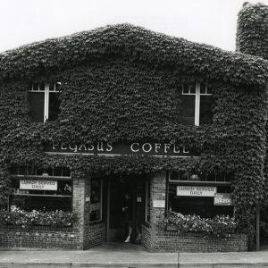 Pegasus Coffee House at the start of the 21st century on Bainbridge Island