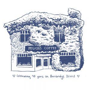 Pegasus Coffee House - 40th Anniversary Sticker