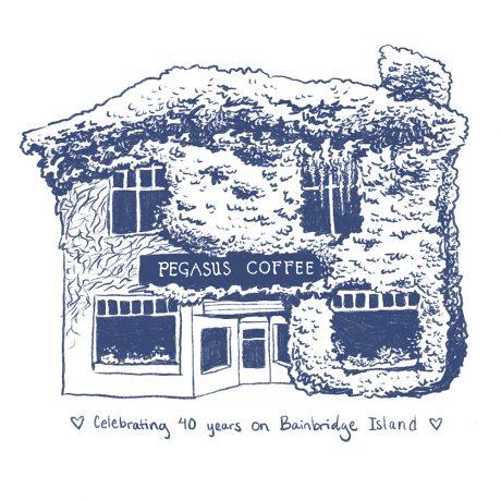 Pegasus Coffee House – 40th Anniversary Sticker