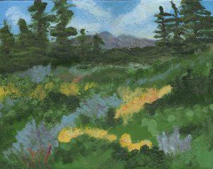 Kate Goodman-Mountain-View-with-Wildflowers